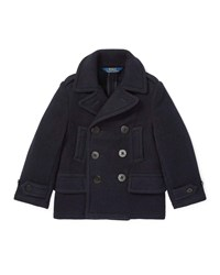 Ralph Lauren Melton Wool Blend Peacoat Blue