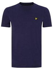 Lyle And Scott Plain Crew Neck T Shirt Navy