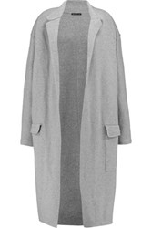 James Perse Merino Wool Blend Coat Gray