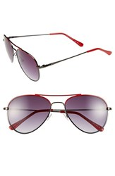 Women's Bcbgmaxazria 55Mm Aviator Sunglasses Red