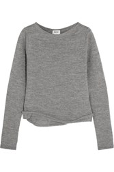 Acne Studios Janelle Alpaca And Wool Blend Sweater Gray