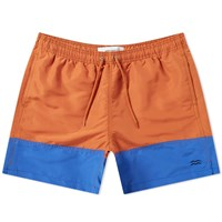 Norse Projects Hauge Colour Block Swim Short Orange