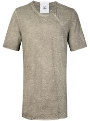 Lost And Found Rooms Piquet T Shirt Cotton Linen Flax Nude Neutrals