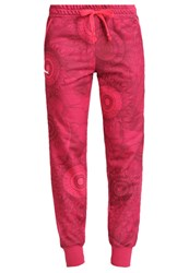 Desigual Tracksuit Bottoms Rose Red Pink