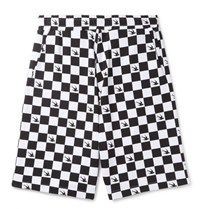 Mcq By Alexander Mcqueen Checkerboard Loopback Cotton Jersey Shorts White