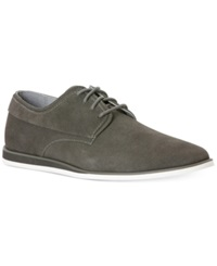 Calvin Klein Kellen Suede Wedge Lace Up Men's Shoes Grey