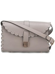 Furla Fold Over Tubular Crossbody Bag Grey