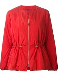 Moncler Gamme Rouge Collarless Padded Jacket Red