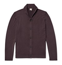 Massimo Alba Shawl Collar Cashmere Cardigan Red