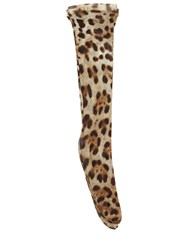 Dolce And Gabbana Leopard Print Tulle Socks