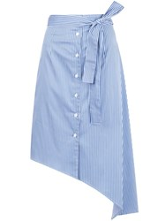 Tome Striped Asymmetric Skirt Blue