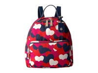 Tommy Hilfiger Julia Heart Backpack Bright Rose Multi Backpack Bags Red