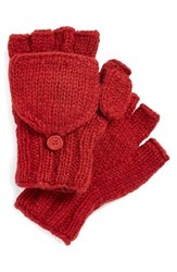 Women's Nirvanna Designs Convertible Fingerless Gloves Red