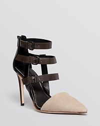 Elie Tahari Pointed Toe Pumps Andover High Heel Taupe