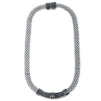 Adele Marie Flat Mesh Necklace Silver