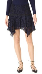 Veronica Beard Aura Asymmetrical Skirt Navy