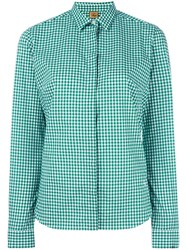 Fay Checked Shirt Green