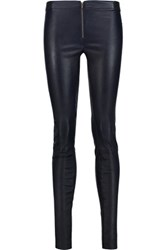 Alice Olivia Leather Leggings Midnight Blue