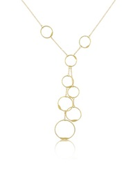 Torrini Milly 18K Yellow Gold Circles Drop Necklace