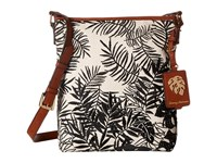 Tommy Bahama Palm Beach Crossbody Black Cream Cross Body Handbags