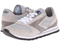 Brooks Heritage Chariot Athletic Grey White Women's Running Shoes Gray