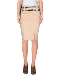Cristinaeffe Collection Skirts Knee Length Skirts Women Beige
