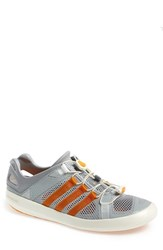 Men's Adidas 'Climacool Boat Breeze' Water Shoe Clear Onyx Lucky Orange Grey