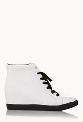 Forever 21 Throwback Wedge Sneakers
