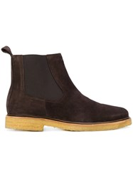 A.P.C. Chelsea Boots Leather Rubber Brown