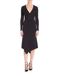 Yigal Azrouel Draped Matte Jersey Dress Black