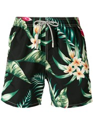 Mc2 Saint Barth Floral Print Swimming Shorts Black