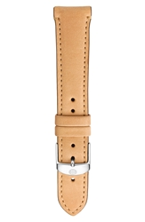 Michele 16Mm Leather Watch Strap Tan