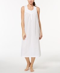 Charter Club Woven Lace Trim Nightgown Created For Macy's Bright White