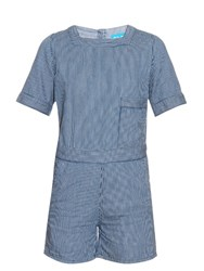 M.I.H Jeans Biarritz Denim Playsuit Blue Stripe