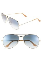 Women's Ray Ban 'Large Original Aviator' 62Mm Sunglasses Blue Gradient