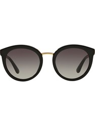 Dolce And Gabbana Round Frame Sunglasses Black