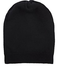 Barneys New York Men's Wool Cashmere Slouchy Hat Black