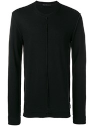 The Viridi Anne Raw Hem Sweater Black