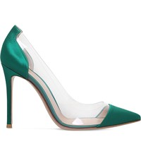 Gianvito Rossi Calabria Satin Court Shoes Green