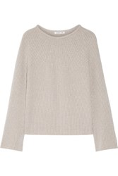 Helmut Lang Ribbed Wool And Cashmere Blend Sweater Stone