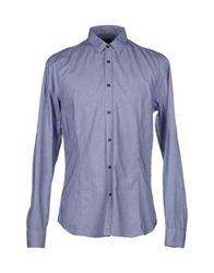 Gazzarrini Shirts Slate Blue