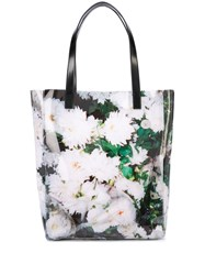 Kara Floral Tote Bag White