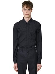Undercover Wool Shirt W Spider Web Detail Charcoal