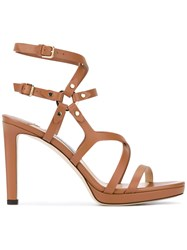Jimmy Choo 'Monica' Sandals Women Calf Leather Leather 39 Brown