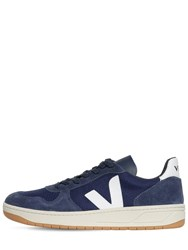 Veja 20Mm V 10 Suede And Mesh Sneakers Blue