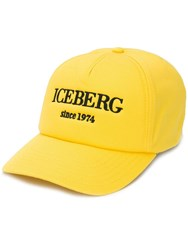 Iceberg Embroidered Logo Cap Yellow