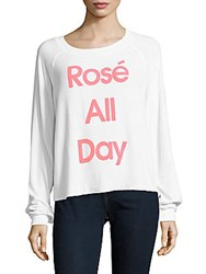 Wildfox Couture Solid Long Sleeve Pullover Clean White