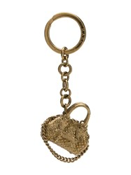 Marc Jacobs Engraved Tote Keyring Gold