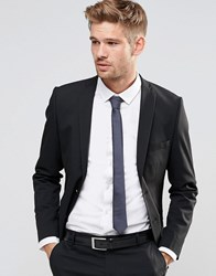 Selected Homme Suit Jacket With Stretch In Slim Fit Black