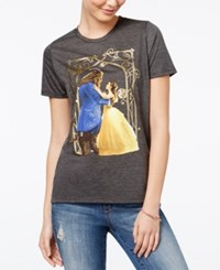 Mighty Fine Disney Juniors' Beauty And The Beast Graphic T Shirt Heather Charcoal